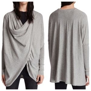 [All Saints] Itat Shrug Cardigan in Grey Marl